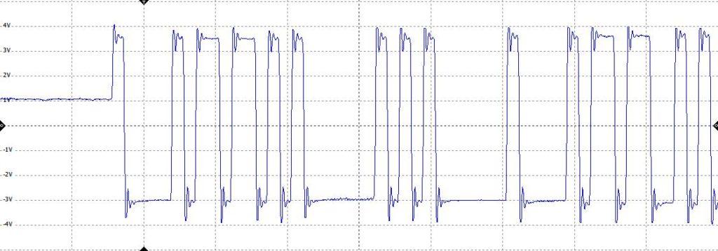 profibus osciloscope signal